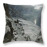 Extreme Skier Jean Franck Charlet Throw Pillow