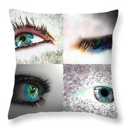 Eye Art Collage Throw Pillow