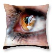 Eye Don't Know Throw Pillow