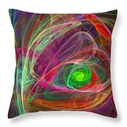 Eye Of The Storm Throw Pillow