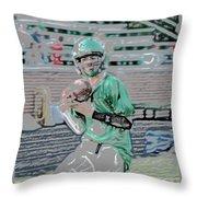 Eye On The Ball Digital Art Throw Pillow