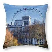Eyeing The View Throw Pillow