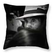 Eyes Among The Crowd Throw Pillow