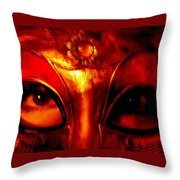 Eyes Behind The Mask Throw Pillow
