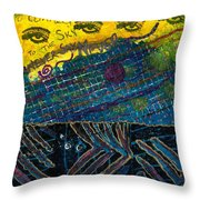 Eyes In The Sky Throw Pillow