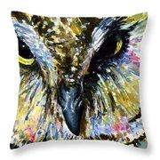 Eyes Of Owl's 13 Throw Pillow