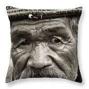 Eyes Of Soul Throw Pillow by Skip Nall