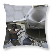 F-16 Fighting Falcon Is Ready To Head Throw Pillow