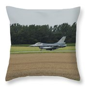 F-16 Of The Belgian Air Force Ready Throw Pillow by Luc De Jaeger