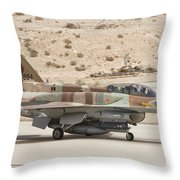 F-16i Sufa Fighting Falcon Throw Pillow