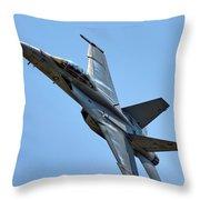 F-18 Hornet Throw Pillow