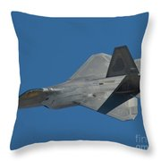 F-22 Lightning 2 Fighter Throw Pillow by Tim Mulina