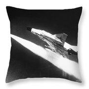 F-4 Phantom Fighter Jet Throw Pillow