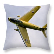 F-86 Sabre Topside Throw Pillow