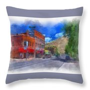 F And S Salida Watercolor Throw Pillow