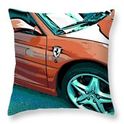 F355 Spider Throw Pillow