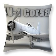 F4u-1 Corsair Throw Pillow