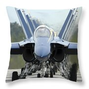 Fa-18a Hornets Assigned To The Blue Throw Pillow