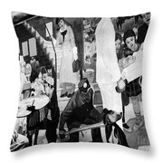 Faber: Mural Painting, C1940 Throw Pillow