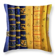 Fabrics From Provence Throw Pillow