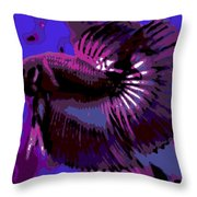 Fabulous Fins Throw Pillow