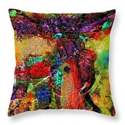 Fabulously Adorned Throw Pillow