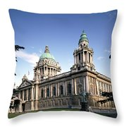 Facade Of A Government Building Throw Pillow