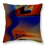 Face 123 Throw Pillow