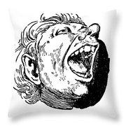 Face, 19th Century Throw Pillow