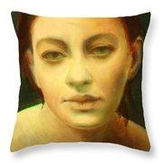 Face 3 Throw Pillow