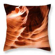 Face In The Canyon Throw Pillow