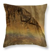 Face In The Rainbow Throw Pillow