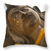 Face Of A Reclining Buddha Throw Pillow