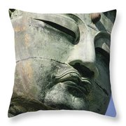 Face Of The Daibutsu Or Great Buddha Throw Pillow
