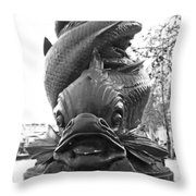 Face Of The Thames Throw Pillow
