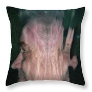Face Reflected Underwater Throw Pillow