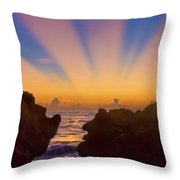 Face The Morning Throw Pillow