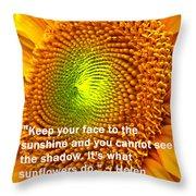 Face To The Sun Throw Pillow