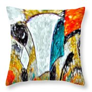 Faces Come Out Of The Rain ... Throw Pillow