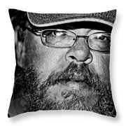 Faces From The Street Throw Pillow