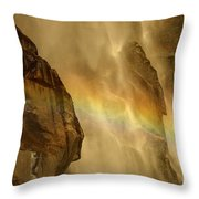 Faces In The Falls Throw Pillow