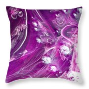 Faces In The Midst Throw Pillow