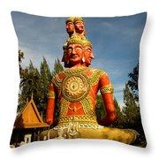 Faces Of Buddha Throw Pillow