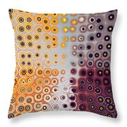 Facets And Circles Throw Pillow