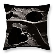 Facial Foliage Throw Pillow