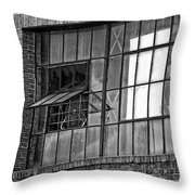Factory Air In New Orleans In Black And White Throw Pillow