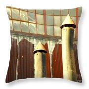Factory Silence Throw Pillow