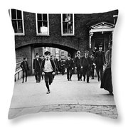 Factory Workers, 1909 Throw Pillow