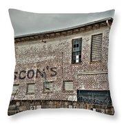 Faded Facade Throw Pillow