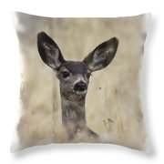 Faded Fawn Throw Pillow